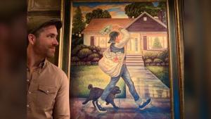 Ryan reynolds painting