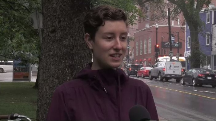 """Having this type of protected infrastructure can ensure that more people will choose to ride their bikes and there's so many benefits to the environment and congestion on our streets to having people on bikes,"" said Meghan Doucette, the executive director of the Halifax Cycling Coalition."