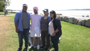 stem cell donor and recipient meet