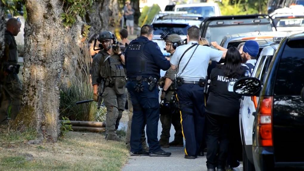 Surrey police standoff
