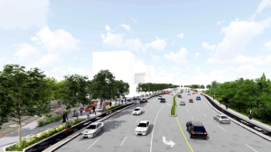 """A rendering of Dundas Street West for the """"Six Points Interchange"""" redesign in seen. (City of Toronto)"""