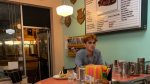 KJ Apa, who plays Archie Andrews on 'Riverdale,' poses in a photo he later posted to Instagram, taken at Lucy's on Main Street in Vancouver.