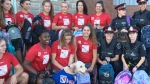 Rangers help police collect backpacks for students