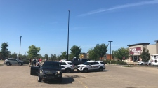 Strathcona County RCMP responded to a bomb threat Tuesday afternoon at the Emerald Hills Shopping Centre in Sherwood Park.