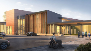 Artist's depiction of how health hub will look.