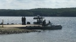 OPP Recovery team on Peninsula Lake