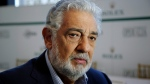 In this Aug. 26, 2014, file photo, Placido Domingo speaks at the Dorothy Chandler Pavilion in Los Angeles.(AP Photo/Damian Dovarganes, File)