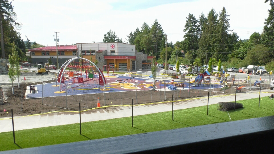 The Sarah Beckett Memorial Playground will be open for use this weekend. (CTV Vancouver Island)
