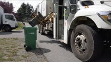 The city has ordered a new garbage truck, which is expected to join the fleet in the middle of next year. (CTV Vancouver Island)