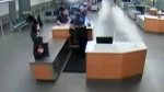 Surveillanve video of Huawei executive Meng Wanzhou at Vancouver International Airport.