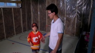 Watch:A Calgary dad inspired by his son's love of the Flames has transformed the family basement. Camilla di Giuseppe reports.