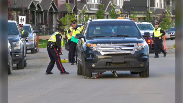 A 7 year-old-boy was rushed to the Stollery Children's Hospital Tuesday night after being hit while riding his bike, in a collision with a driver in an SUV.