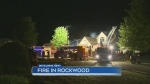 Crews battle fire in Rockwood