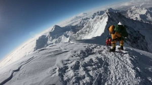 Single-use plastics of less than 30 microns in thickness as well as drinks in plastic bottles are now banned on Mount Everest. (AFP)