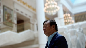 Chinese tech giant Huawei's founder Ren Zhengfei, speaks during an interview at the Huawei campus in Shenzhen in Southern China's Guangdong province on Tuesday, Aug. 20, 2019. (AP Photo/Ng Han Guan)