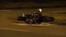 Police are investigating a crash involving a motorcycle in South Vancouver.