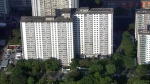 An apartment building located at 650 Parliament Street in Toronto is seen. (CTV News Toronto Chopper)