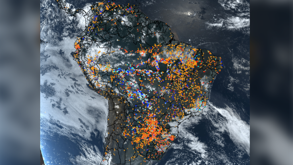 Record number of wildfires burning in Brazil's Amazon rainforest: space agency