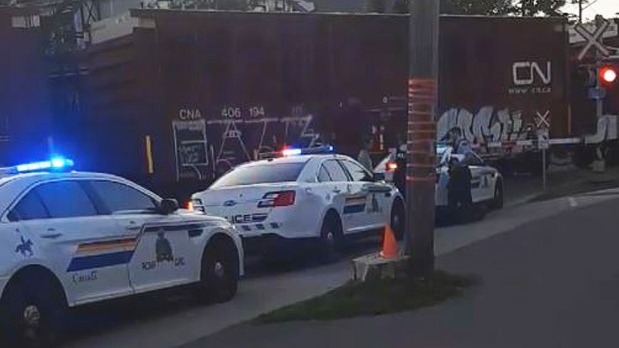 Pedestrian rushed to hospital after being struck by train in Moncton