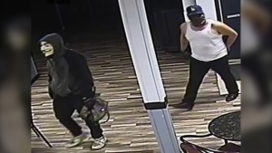 Police are asking for the public's help in identifying two men who robbed the Pelican Hotel on Aug. 14, 2019. (Photo supplied.)