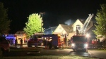 Firefighter sent to hospital after house fire