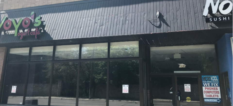 This site at 1135 Richmond St. in London, Ont., seen on Wednesday, Aug. 21, 2019, is being proposed for a cannabis retail store.