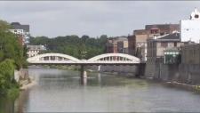 A bridge in downtown Cambridge.