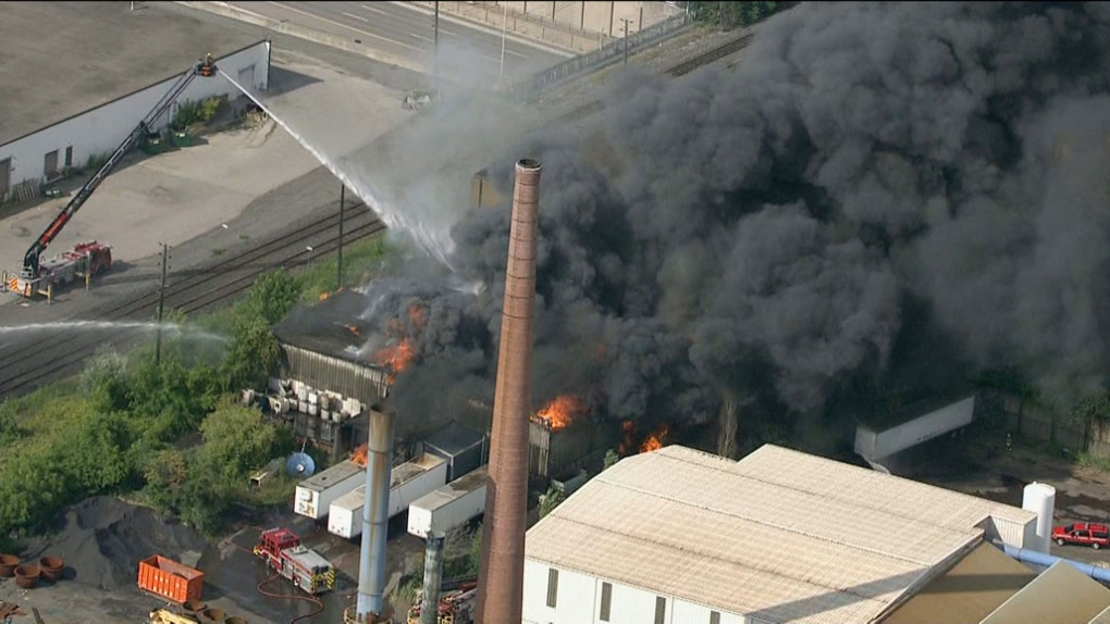 Officials say it took about 16 hours to control fire at