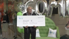 Man claims record-breaking lotto win in B.C.