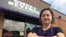 Saskia Scott, owner of Sweet Revenge Bake Shop in Windsor pictured on August 21, 2019. (Ricardo Veneza / CTV Windsor)