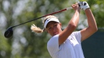 Suzann Pettersen hits from the third tee, during the third round of the LPGA Classic at Whistle Bear Golf Club in Cambridge, Ont., on Saturday, June 10, 2017. THE CANADIAN PRESS//Dave Chidley