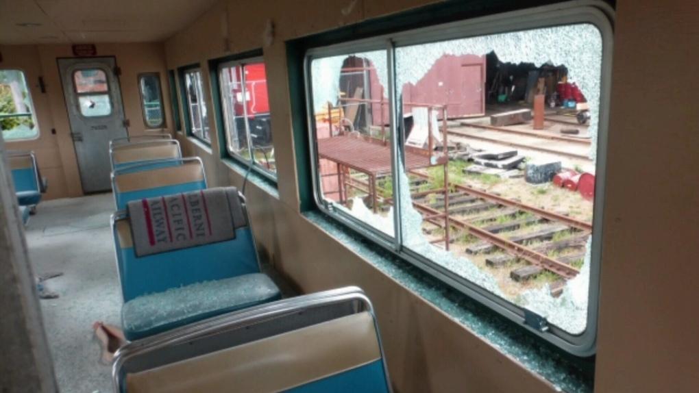 Accused vandals clean up damage to historic Port Alberni railcars