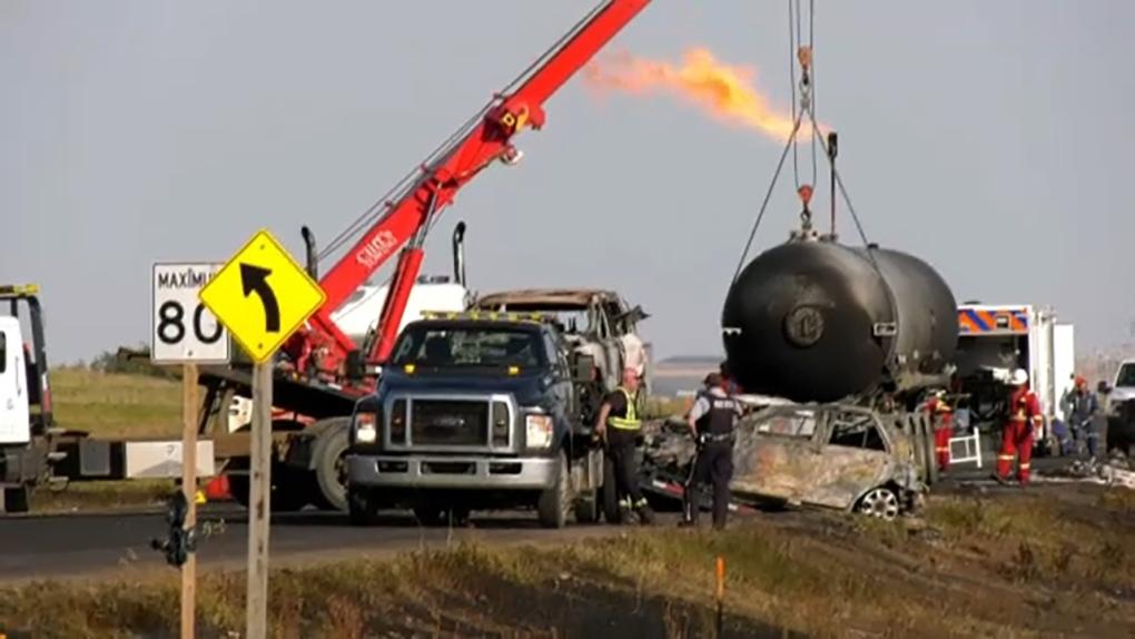 Warman man describes sirens, smoke at fatal Alberta crash scene