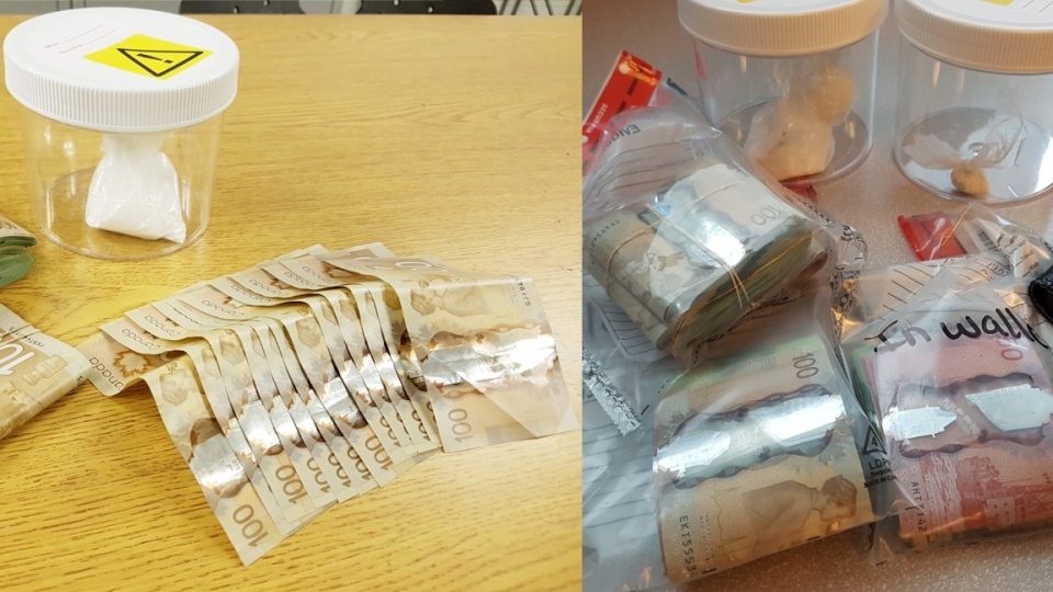 Regional Police seized suspected cocaine and cash after they arrested a Kitchener man. (Photo: WRPS) (August 22, 2019)