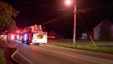 Firefighters in the rural community of Saint Mathieu responded to four fires, most likely arson (CTV Montreal/Cosmo Santamaria)