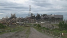 power plant implosion