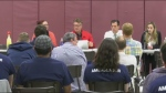 The town hall was held Wednesday night at the Notre Dame Recreation Centre.