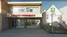 V-Can Pharmacy in Edmonton. (Source: Google Street View)
