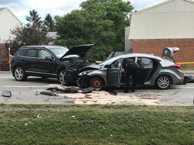 One person injured in crash on Russell Rd.