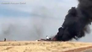 11 people walk away safe after fiery plane crash