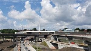 The St. Jacques St. Bridge sits over part of the Turcot Interchange (CTV Montreal/Amanda Kline)