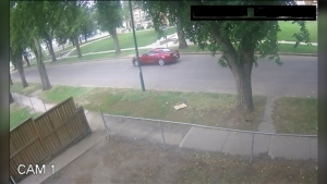 The occupants of this car are not involved in the homicide but given the time and place, may have witnessed some of the incident, police say. (Courtesy Saskatoon Police Service)