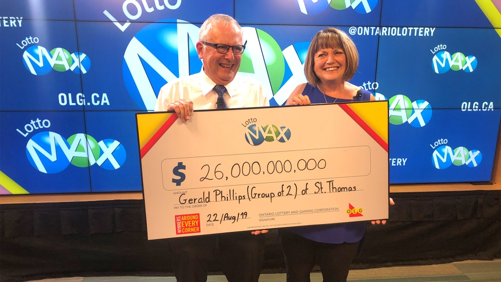Couple from St. Thomas, Ont. pick up $26M Lotto Max win