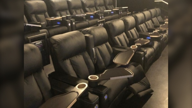 VIP chairs were damaged at a West Vancouver movie theatre last Friday.