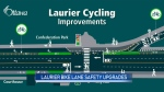 Safety upgrades at Laurier bike lane