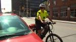 On patrol on e-bikes
