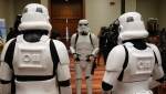 Stormtroopers witness a citizenship ceremony at the Metro Toronto Convention Centre. (Scott Lightfoot/CTV News Toronto)