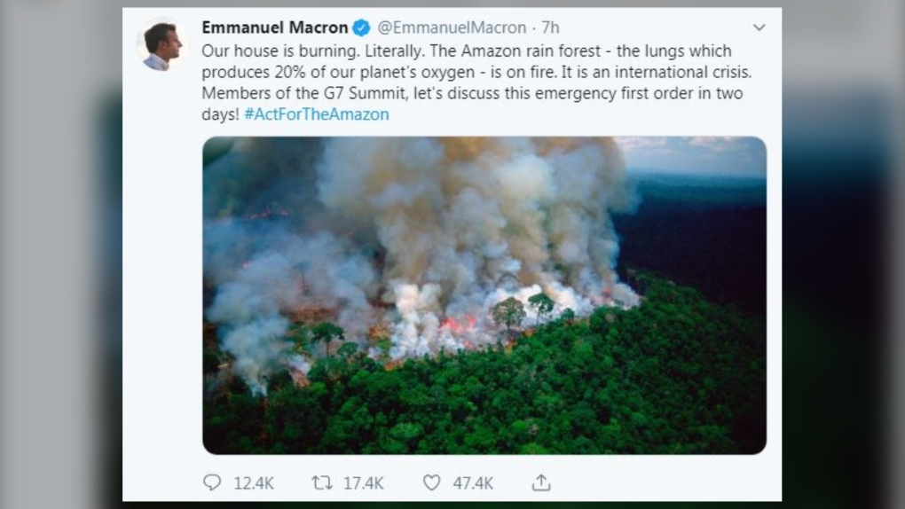 The Amazon wildfires are real, but this photo isn't