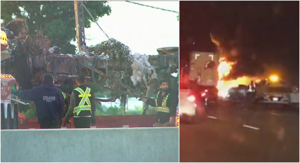Toronto-bound lanes on QEW closed at Trafalgar Road after fatal crash