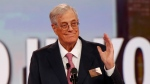 In this 2015 file photo, David Koch speaks at the Defending the American Dream summit hosted by Americans for Prosperity at the Greater Columbus Convention Center in Columbus, Ohio. Koch, a major donor to conservative causes and educational groups, has died. (AP Photo/Paul Vernon, File)